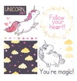 Unicorns set vector image