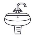 washbasinwashstand line icon sign vector image