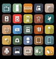 household flat icons with long shadow vector image vector image