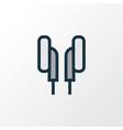 earphones colorful outline symbol premium quality vector image