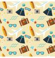 summer seamless flat pattern vector image