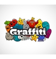Graffiti Characters Composition Flat Concept vector image