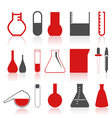 chemistry icons vector image vector image