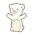 cute comic cartoon polar bear vector image