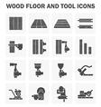 Wood floor method vector image vector image