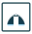 Touristic tent icon vector image
