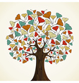 Abstract ginkgo autumn tree vector image