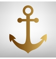 Anchor sign Flat style icon vector image