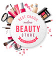 beauty store emblem vector image