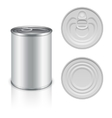 Canned metal packaging template for your vector image