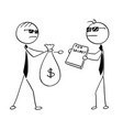 cartoon of two agents spies business men selling vector image