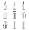 Cosmetic bottles icons set vector image