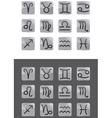 glass zodiac vector image