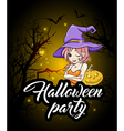 Design for Halloween party vector image vector image