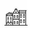Street and House Emblem vector image