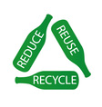 Bottles forming the recycle icon vector image
