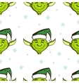 Green Elves Seamless Pattern vector image