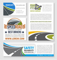speed road construction and service banners vector image vector image