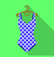 blue and white swimsuit for competitive swimming vector image