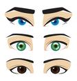 blue green brown eyes vector image vector image