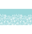 Blue and white lace garden plants horizontal vector image vector image