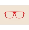 Red retro hipster glasses vector image