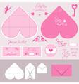 envelope heart 380 vector image
