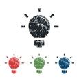 Lightbulb grunge icon set vector image