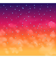 A magical Nigh sky with stars and delecate clouds vector image
