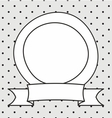 Frame and white polka dots on grey background vector image vector image
