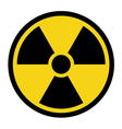 radiation yellow sign vector image