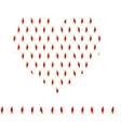 Stylized heart made of red bulbs Seamless vector image vector image
