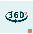 Angle 360 degrees icon isolated vector image