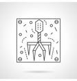Bacteriophage icon flat line design icon vector image