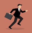 Business Man Running vector image