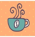 Cup of hot drink icon vector image