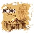 Hand drawn sketch circus and amusement vector image