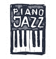 Playing the jazz piano Hand drawn vector image