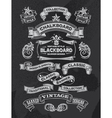Retro Chalkboard banners and ribbon design vector image