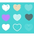 Valentine heart love symbol pattern set vector image