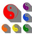 ying yang symbol of harmony and balance set of vector image