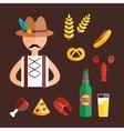 Oktoberfest man vector image