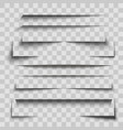 gray stripes shadows set on transparent background vector image