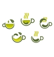 Herbal tea symbols vector image vector image