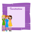 invitation frame vector image