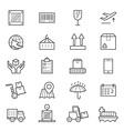 Logistics Icons Line vector image