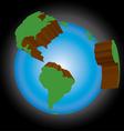 earth three dimensional vector image