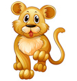 Little lion with happy face vector image