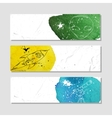 Banners for advertising professional accessories vector image