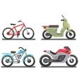 Bike and motorbike vector image
